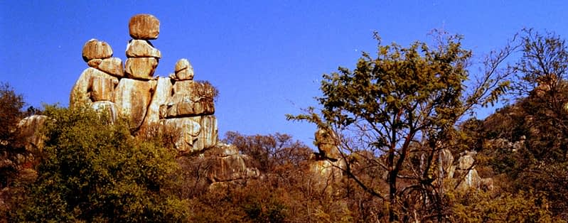 Matobo National Park Balancing Rocks formation