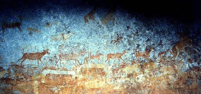 Nswatugi Cave painting art - Zimbabwe